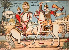 Combat between Ali ibn Abi Talib and Amr Ben Wad near Medina.JPG