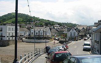 Combe Martin - View of Combe Martin where the village meets the sea