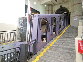 Como–Brunate funicular - Another of the latest funicular cars in the lower station