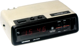 Computer clock radio (a radio that is an alarm...