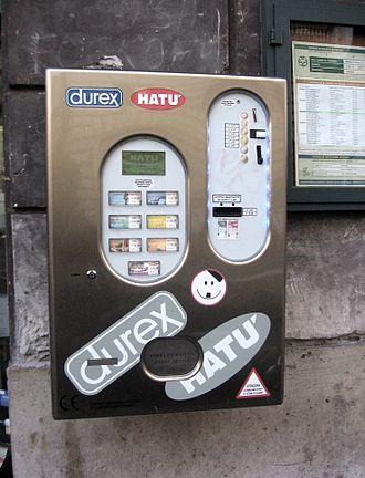 Condom machine - Condom vending machine outside an Italian pharmacy