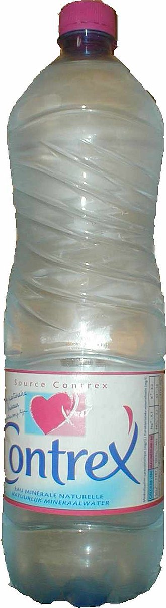 Contrex - A bottle of Contrex water