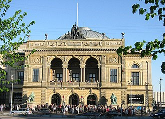 Royal Danish Orchestra - Gammel scene or Old Stage at Kongens Nytorv, home of the Royal Danish Orchestra since 1874.