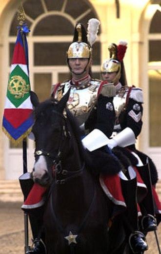 Corazzieri - Corazzieri on horseback in a gala uniform