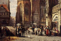 Cornelis Springer - Many Figures On The Market Square In Front Of The Martinikirche Braunschweig - detail.jpg