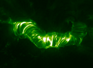 Coronal seismology - TRACE image of a coronal arcade