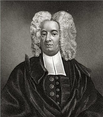 Puritans - Cotton Mather, influential New England Puritan minister, portrait by Peter Pelham.