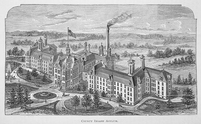County Insane Asylum, Milwaukee, From WikimediaPhotos