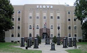 Floyd County Court House - Image: Courthouse Floyd County Iowa