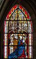 Coutances Cathédrale Notre-Dame Vitrail Baie 218 Lancette gauche 5e registre - la Vierge médiatrice 2014 08 25.jpg