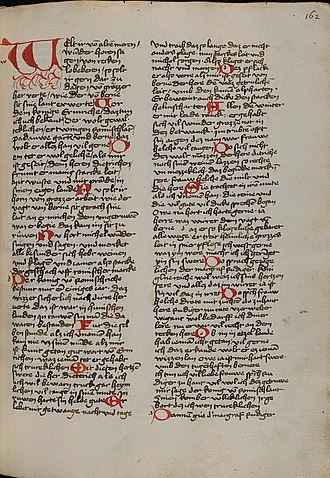 Die Rabenschlacht - First page of manuscript P of the Rabenschlacht. UBH Cpg 314 fol. 162r.