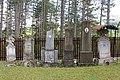 Crkva Svetog Ilije u varošici Kamenica (selo Družetići), opština Gornji Milanovac, spomenici u crkvenoj porti.jpg