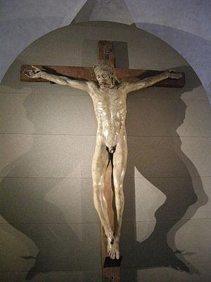 Convent of Bosco ai Frati -  Crucifix, school of Donatello