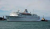 Cruise ship at Larne (1 of 3) - geograph.org.uk - 621545.jpg