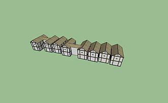 Settlements of the Cucuteni–Trypillia culture - Image: Cucuteni Housing Interconected Houses