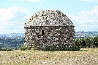 Beacon - 16th-century beacon hut in Culmstock, Devon, England