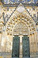 Czech-03753 - St. Vitus Cathedra Entrance (32637308560).jpg