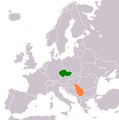 Czech Republic Serbia Locator.png