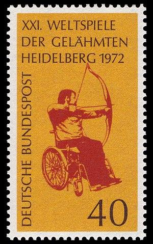 1972 Summer Paralympics - Image: DBP 1972 733 Weltspiele der Gelähmten
