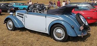 DKW F8 - DKW F8 Cabriolet viewed from behind