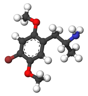 2,5-Dimethoxy-4-bromoamphetamine - Image: DOB 3d sticks