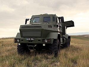RS-122 - Image: DRS 122 georgian MLRS (4)
