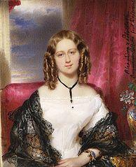 Miniatura Aleksandry Potockiej (1818-1892)