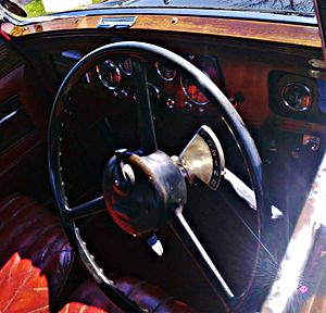 Preselector gearbox - Gear selector Daimler Fifteen 1934