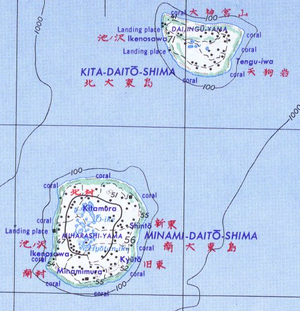 Kitadaitōjima - Map of Kitadaitō