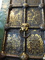Damascene gold on copper door 13th century Nativity of the Virgin Cathedral Suzdal Russia (14420614045).jpg
