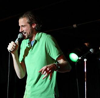 Dan Allen (comedian) - Allen performing at The Drink At Work Show, 18 December 2006.