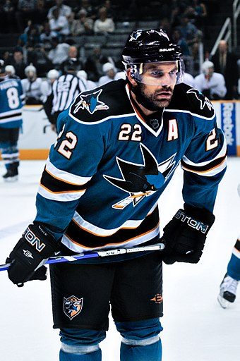With 48 playoff points, Dan Boyle recorded the second-most playoff points by any Sharks defensemen. Dan Boyle.jpg