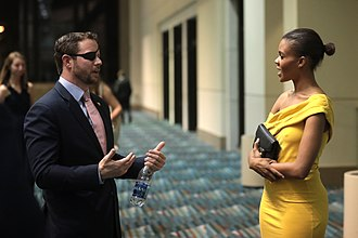 Dan Crenshaw - Crenshaw and Candace Owens speaking at the 2018 Student Action Summit hosted by Turning Point USA