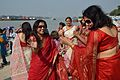 Dancing Devotees - Durga Idol Immersion Ceremony - Baja Kadamtala Ghat - Kolkata 2012-10-24 1349.JPG