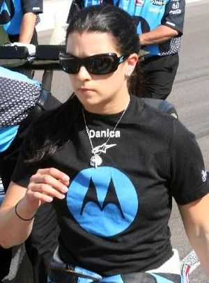 English: Danica Patrick on Pole Day at Indy, 2...