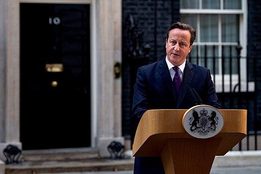 David Cameron outside No 10