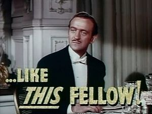 Cropped screenshot of David Niven from the tra...