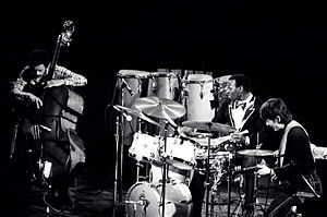 "David ""Happy"" Williams - David ""Happy"" Williams, Elvin Jones and Ryo Kawasaki in 1976"