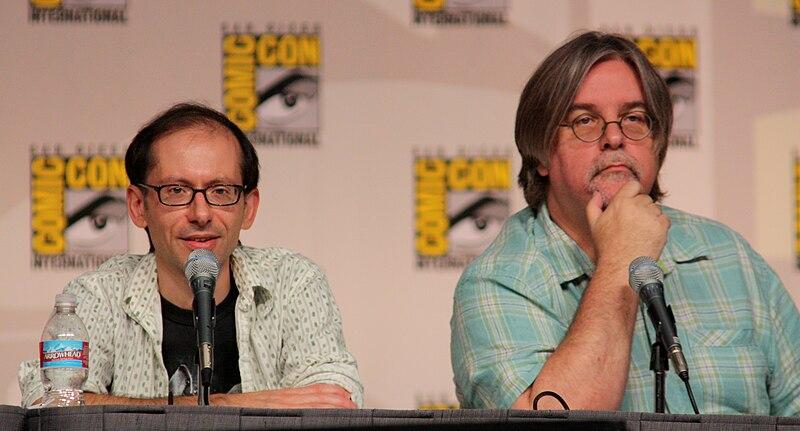 David X. Cohen %26 Matt Groening by Gage Skidmore.jpg