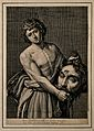 David with the head of Goliath. Line engraving by G. Roussel Wellcome V0007113.jpg
