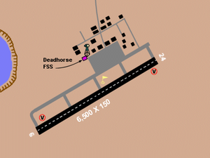 Deadhorse Airport - Diagram of Deadhorse Airport. US FAA image. Not to be used for navigational purposes