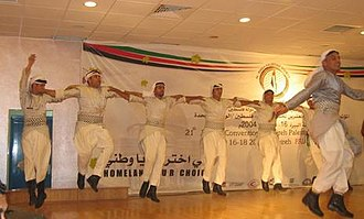 Dabke - Men dancing dabke in Al-Bireh, West Bank