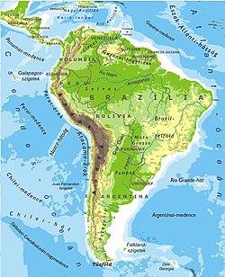 dél amerika térkép Dél Amerika – Wikipédia dél amerika térkép
