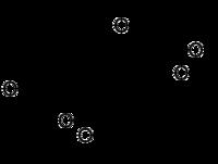 Strukturformel von Deoxynivalenol