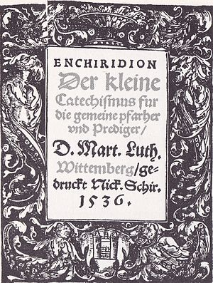 Luther's Small Catechism - Title page of Luther's Small Catechism (1536, originally published in 1529)