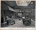 Design for a general chemical laboratory, with the apparatus Wellcome V0025597.jpg