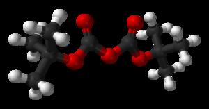 Di-tert-butyl dicarbonate - Image: Di tert butyl dicarbonate based on similar xtals 3D balls