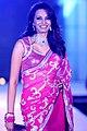 Diana Hayden walks for Manish Malhotra & Shaina NC's show for CPAA 17.jpg