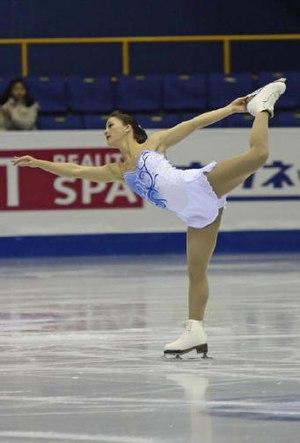 Figure skating spirals - Image: Diane Szmiett Spiral 2008 2009 JGPF