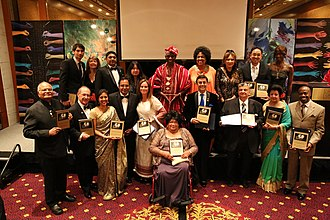 Diane Watson - Watson with honorees at the 3rd Global Officials of Dignity Awards which was held at the UN Millennium Hotel in New York on 7th August, 2015.